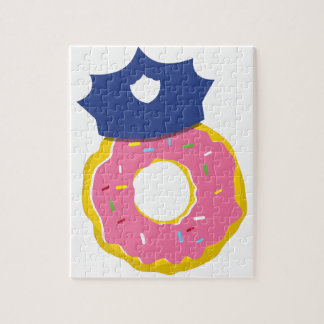 doughnut police officers hat jigsaw puzzle