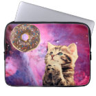 Doughnut Praying Cat Laptop Sleeve