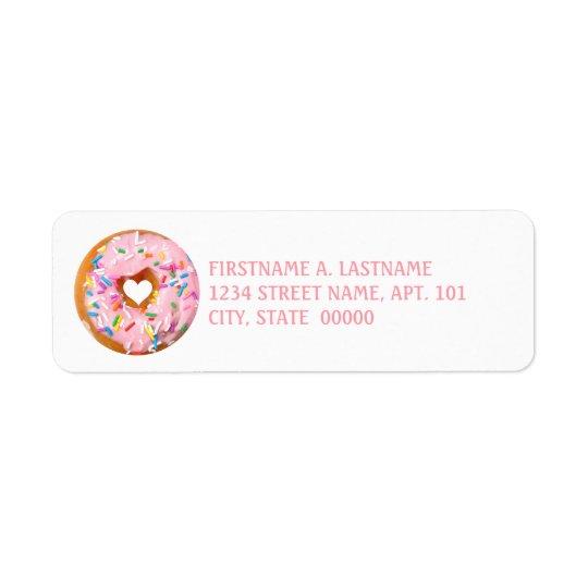 Doughnut Return Address Label
