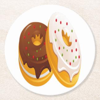 doughnut round paper coaster
