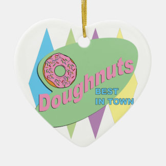 doughnut shop ceramic ornament