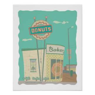 Doughnut Shop-from Route 66 Memories Poster
