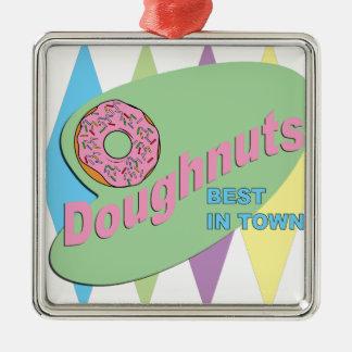 doughnut shop metal ornament