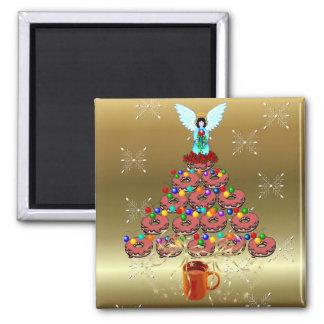 Doughnut Tree Square Magnet