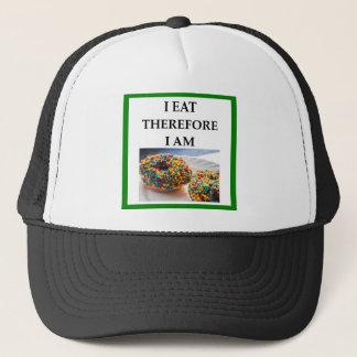 doughnut trucker hat