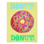 Doughnut With Sprinkles Poster