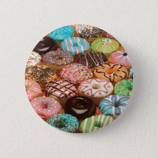 doughnuts 6 cm round badge