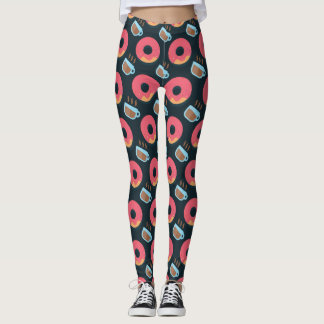 Doughnuts and Coffee Pattern Leggings