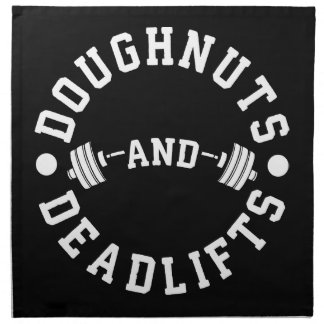 Doughnuts and Deadlifts - Carbs - Funny Workout Napkin