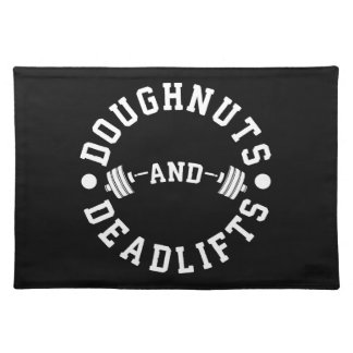 Doughnuts and Deadlifts - Carbs - Funny Workout Placemat
