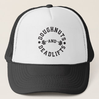 Doughnuts and Deadlifts - Carbs - Funny Workout Trucker Hat