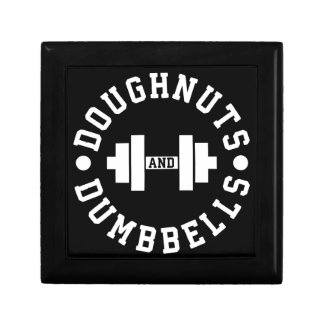 Doughnuts and Dumbbells - Carbs - Funny Workout Gift Box