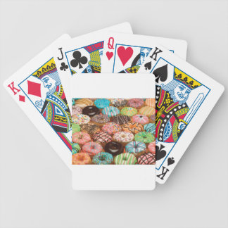 doughnuts bicycle playing cards