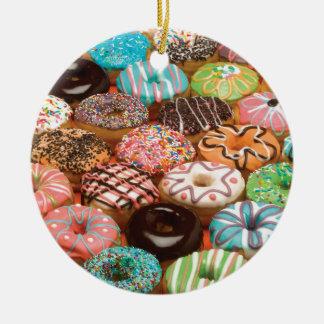 doughnuts ceramic ornament