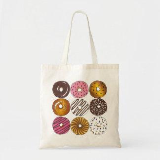 Doughnuts Donuts Breakfast Foodie Donut Tote Budget Tote Bag