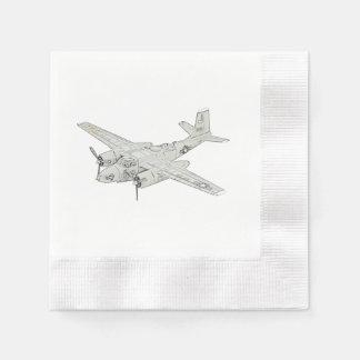 Douglas A-26 Invader Disposable Napkin