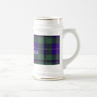 Douglas clan Plaid Scottish tartan Beer Steins