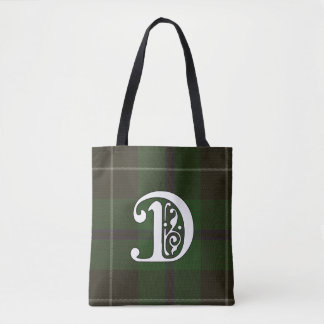 Douglas Clan Tartan Monogram Tote Bag