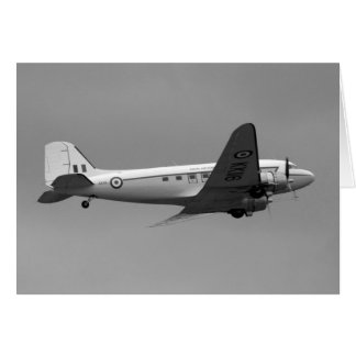Douglas DC3 Dakota Plane Card