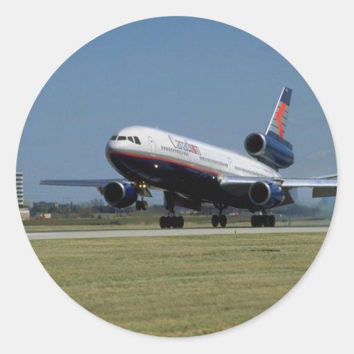 Douglas DC-10 on take-off Round Sticker
