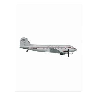Douglas DC-3 Johnson Flying Service Postcard