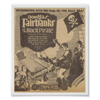 Douglas Fairbanks Billie Dove Black Pirate 1926 Poster
