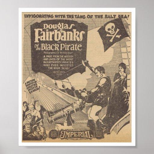 Douglas Fairbanks Billie Dove Black Pirate 1926 Poster