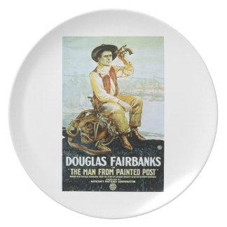 Douglas Fairbanks Man from Painted Post 1917 film Plate