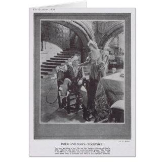 Douglas Fairbanks Mary Pickford Taming Shrew 1929 Card