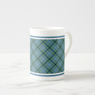 Douglas Family Ancient Tartan Light Blue Plaid Bone China Mug