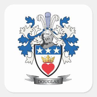 Douglas Family Crest Coat of Arms Square Sticker