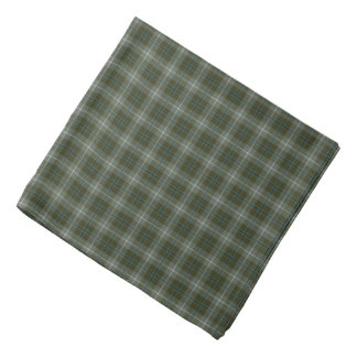 Douglas Family Weathered Tartan Moss Green Plaid Bandana