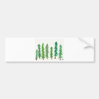 Douglas Fir Trees Bumper Sticker