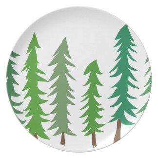 Douglas Fir Trees Plate