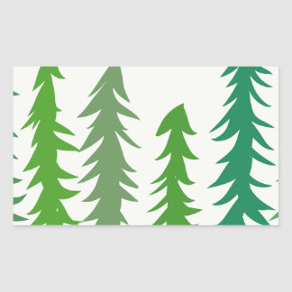 Douglas Fir Trees Rectangular Sticker