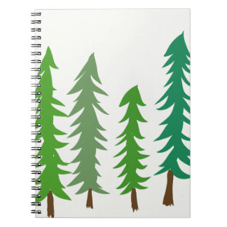 Douglas Fir Trees Spiral Notebook