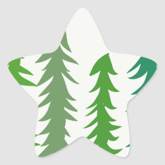 Douglas Fir Trees Star Sticker