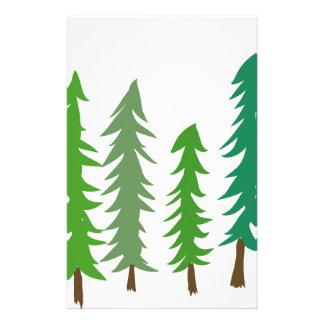 Douglas Fir Trees Stationery
