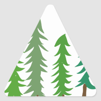 Douglas Fir Trees Triangle Sticker