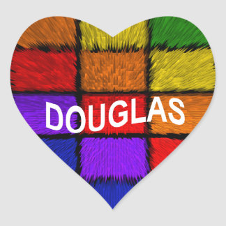 DOUGLAS HEART STICKER