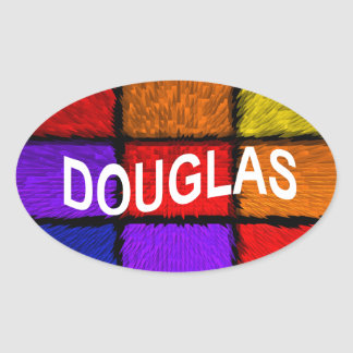 DOUGLAS OVAL STICKER