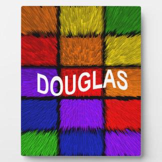 DOUGLAS PLAQUE