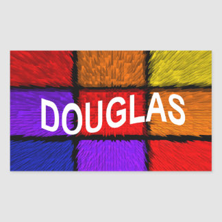 DOUGLAS RECTANGULAR STICKER