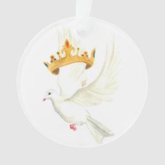 Dove and crown ornament