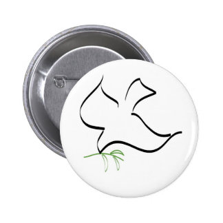 Dove and Olive Branch Image 6 Cm Round Badge
