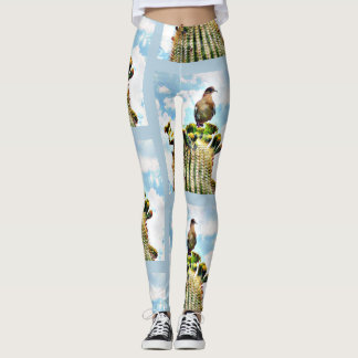 Dove Atop Saguaro Women's Leggings