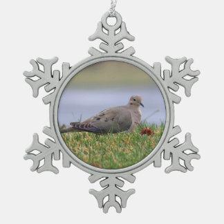 Dove Bird Pewter Snowflake Decoration