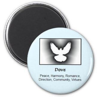 Dove Bird Totem Animal Spirit Meaning 6 Cm Round Magnet