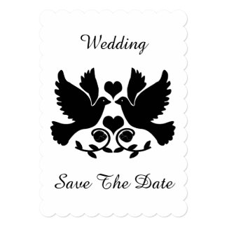 Dove Black And White Wedding Save The Date Card