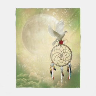 Dove Dreamcatcher Fleece Blanket